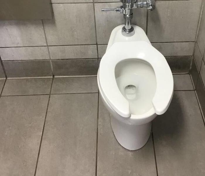 dry floors and clean toilet